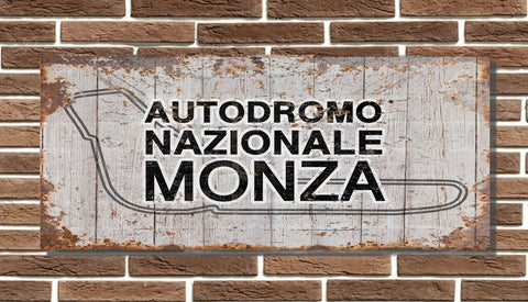 Monza Race Circuit Board Sign