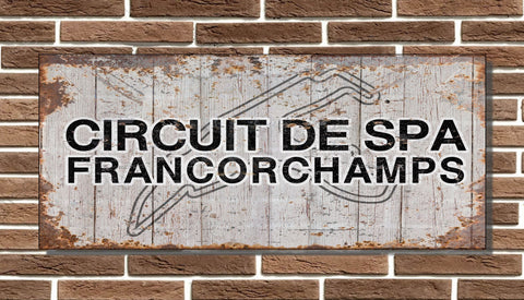 Spa Francorchamps Circuit Board Sign