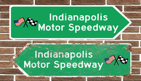 Indianapolis Motor Speedway Metal Road Sign