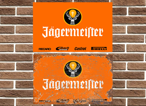Jagermeister Racing Livery Metal Sign