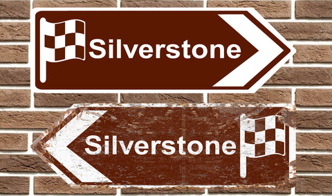 Silverstone Race Circuit Metal Road Sign