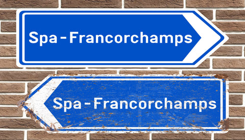 Spa-Francorchamps Circuit Metal Road Sign
