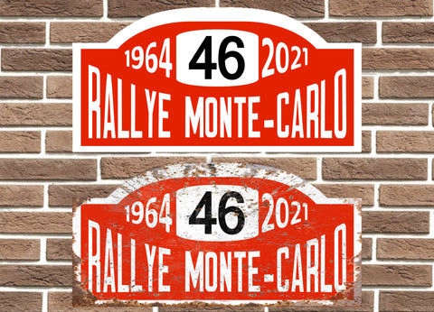 Personalised Rally Monte Carlo Plate