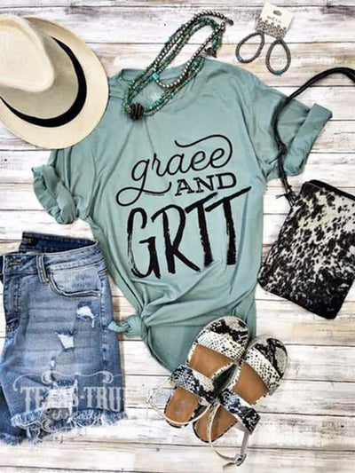 Summer casual simple printed T-shirt