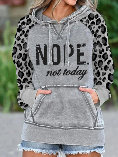 Long Sleeve Casual Hoodie Printed Sweatshirt