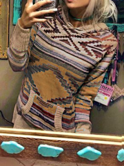 Plus size Cotton Boho Hoodies