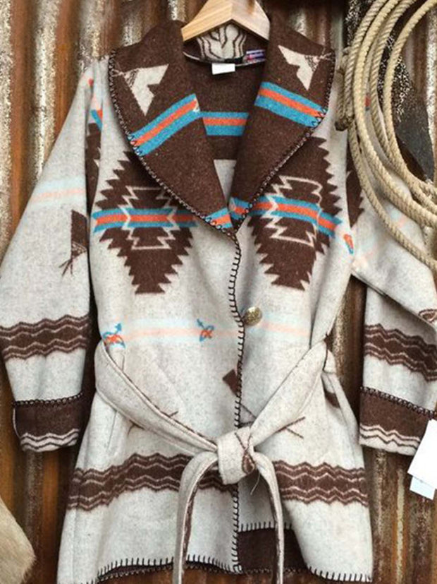 Brown Long Sleeve Cotton-Blend Sweater