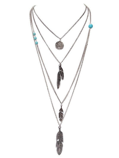 Blue Alloy Necklaces