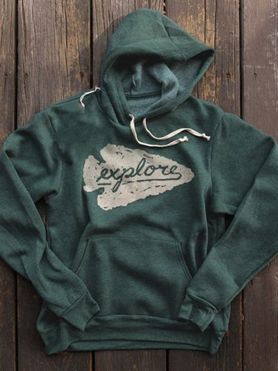 Green Hoodie Casual Printed Cotton-Blend Fashion Print Sweatshirt