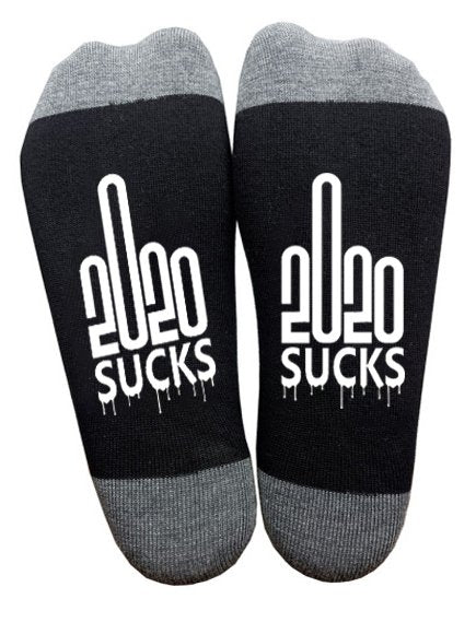 2020 Middle Finger Graphic Crew Socks