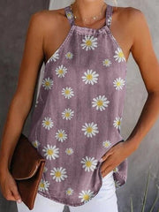 Casual Printed Sleeveless Shirts & Tops