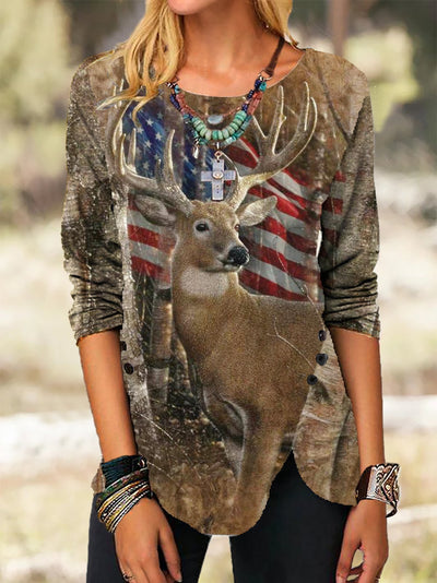 Animal Long Sleeve Shirts & Tops
