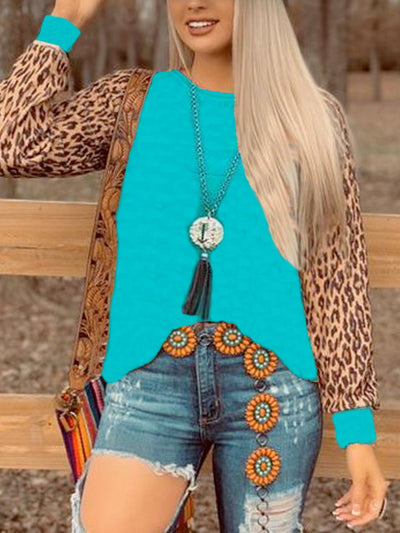 Leopard Long Sleeve Jersey Shirts & Tops