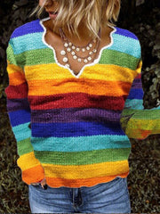 Long Sleeve Shift Knitted Sweater