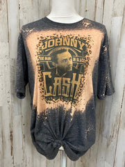 Black Vintage Crew Neck Shirts & Tops