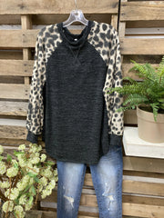 Color-Block Leopard Shirts & Tops