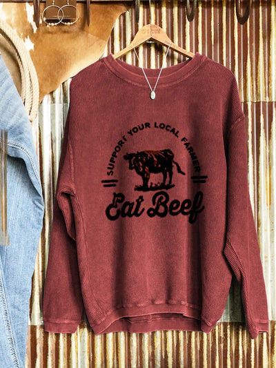 Crew Neck Sports Letter Shift Sweatshirt