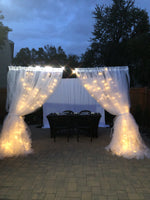 Load image into Gallery viewer, 4 Post - 10FT x 10 FT Metal Canopy Backdrop Stand