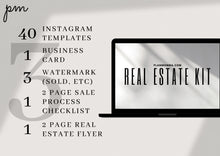 Load image into Gallery viewer, Real Estate Agent Kit-Modern Templates, Business Card, Instagram Template, Real Estate Watermark, Real Estate Flyer, Sales Process Checklist