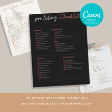 Load image into Gallery viewer, 3 Real Estate Pre-listing Checklist Bundle , Pre-listing Checklist, Real Estate Marketing, Realtor, Printable Real Estate Checklist, Canva