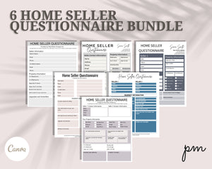 Real Estate Home Seller Questionnaire 6 Design - Real Estate Flyer, Real Estate Forms, Seller Questionnaire, Real Estate Tools, Seller Guide