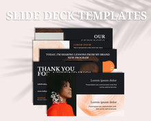 Load image into Gallery viewer, Masterclass Slide Presentation for Webinar, Slide Deck Presentation, Course Slide Deck Template, Course Webinar Template, Canva