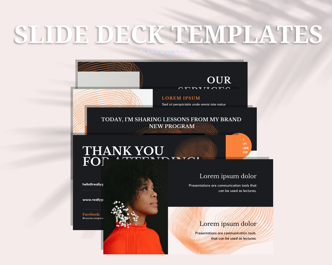 Masterclass Slide Presentation for Webinar, Slide Deck Presentation, Course Slide Deck Template, Course Webinar Template, Canva