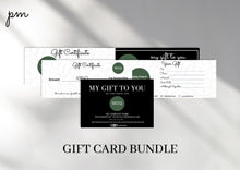 Load image into Gallery viewer, 5 Gift Certificate Template for Beauty Business - Gift Card Printable Template, Gift Certificate Editable Gift Card Editable Gift Card
