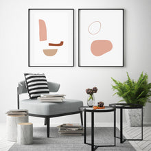 Load image into Gallery viewer, Abstract Art Print Set of 3 Instant Download | Modern Poster Abstract Set Of 3 Geometric Wall Art Geometric Print Shapes Art Trio Art Print