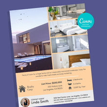 Load image into Gallery viewer, 2 Real Estate Flyer Template Bundle - Instant Download | Flyer, house flyer, real estate marketing flyer, Canva realtor flyer,