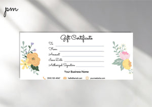 Editable Gift Certificate Template - DOWNLOAD NOW gift card printable template printable, gift certificate editable