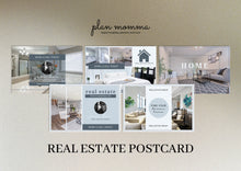 Load image into Gallery viewer, Real Estate Postcards - Editable Realtor Postcards, Real Estate Marketing, Real Estate Templates, Realtor Branding, Instant Download, Canva