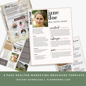 Real Estate Agent Brochure - Instant Download | Canva template, Realtor marketing, marketing brochure, real estate agent, realtor template