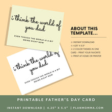 Load image into Gallery viewer, Fathers Day Card | Printable Card | Fathers Day Card | Fathers Day Card | Funny fathers day card | Fathers Day Gift | Humor Card