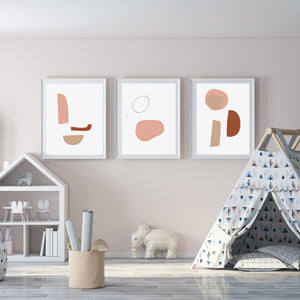 Abstract Art Print Set of 3 Instant Download | Modern Poster Abstract Set Of 3 Geometric Wall Art Geometric Print Shapes Art Trio Art Print