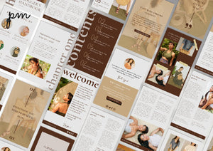 Neutral Coaching Kit - Blogger's Workbook Template, Neutral Instagram Template, Social Media Content Planner, Lifestyle Coach, Coaches
