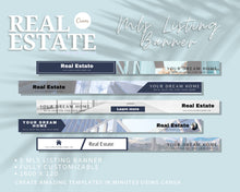 Load image into Gallery viewer, 5 MLS Listing Banner Real Estate Template - Real Estate Marketing, Real Estate Website Banner, Banner Template, Listing Banner for Canva
