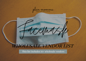 Wholesale Face Masks Bulk Vendors List | Download 25+ U.S. Based Wholesale Face Mask Vendors List Resellers | Instant Download