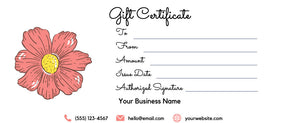 Gift Certificate Template Editable Printable - DOWNLOAD NOW gift card printable template printable, gift certificate editable