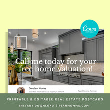 Load image into Gallery viewer, Realtor templates postcard - Instant Download | Postcard template, real estate postcard, realtor postcard, printable postcard canva template