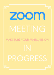 In Meeting Sign Printable - Zoom Meeting Video Meeting Signs , Do not disturb sign - 5 Colors, Instant Download, US Letter