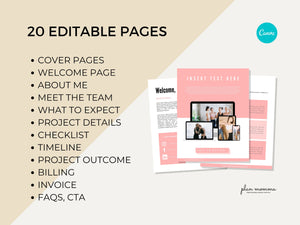 Client Welcome Packet Template, Proposal Template, Virtual Assistant Welcome Packet, Client Onboarding Template, New Client Service Guide