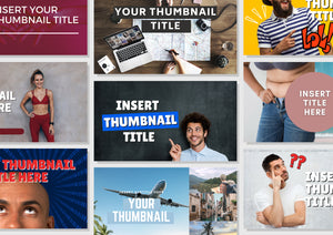 10 Youtube Thumbnail Template - Custom Thumbnail, Video Thumbnails, Thumbnail Template, Youtube Template, Youtube Graphics, Youtube Channel