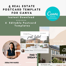 Load image into Gallery viewer, Real Estate Postcards, Just sold postcards, buyer postcards, Realtor tools, Real estate marketing, Realtor postcards, agent postcards