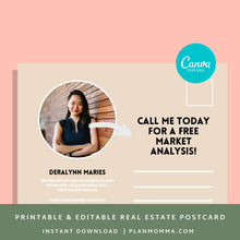 Load image into Gallery viewer, Realtor Postcard - Instant Download | agent postcard, canva template, Sell home, market analysis, real estate agent mailer, canva postcard