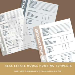 House Hunting Template - Home Buyer Guide, Real Estate Flyer, Realtor marketing tools, Canva, Buyer & Seller Questionnaire, PDF