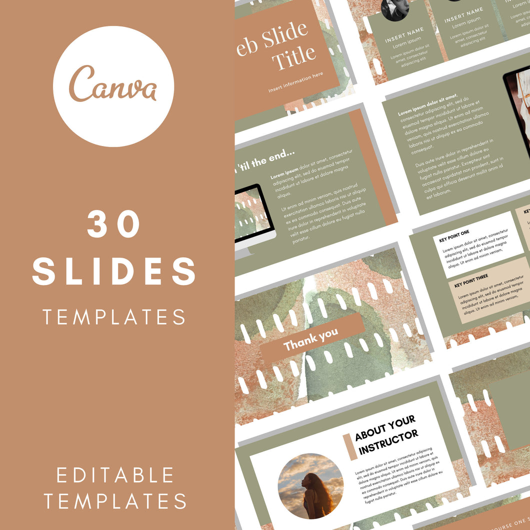 Canva Webinar Slide Deck Template, Slide Deck Presentation, Course Slide Deck Template, Course Webinar Template, Masterclass Template, Canva