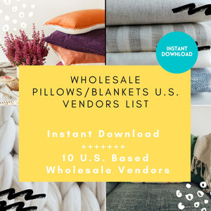 Wholesale Home Decor Throws Blankets Vendor List 10 US ONLY | wholesale throws, wholesale blankets, home decor vendor list, throw pillow