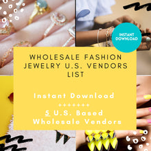 Load image into Gallery viewer, 5 Jewelry Wholesale List - Costume Jewelry | Wholesale Jewelry vendor list, wholesale earrings, wholesale bracelets, wholesale ring necklace