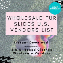 Load image into Gallery viewer, 5 Wholesale Fur Slide Vendor List - US Based ONLY | Wholesale Furry Sandals, Wholesale Fur Slides, Instant Download